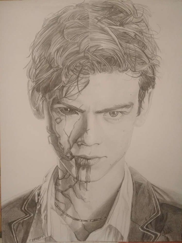 Thomas Brodie-Sangster by Erni